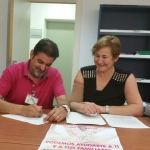 Firma Gustavo Fernández y Lina García