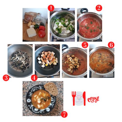 Sopa de Caldo por Encima (opción vegetariana)