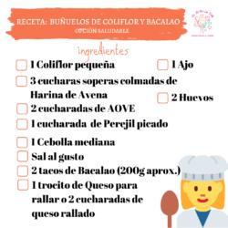 Buñuelos de coliflor y bacalao (opción saludable)