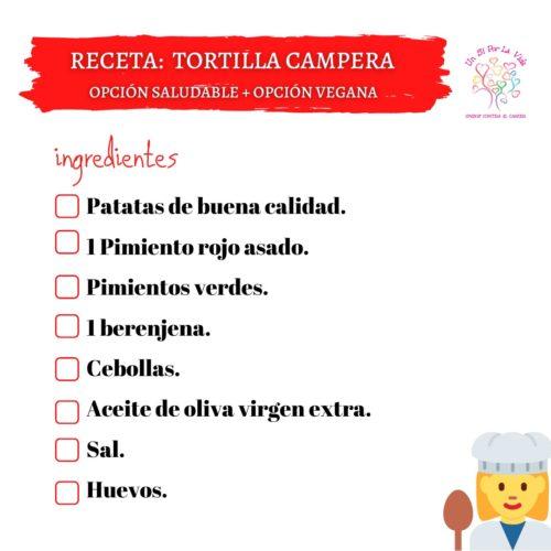 Tortilla Campera (opción saludable + opción vegana)